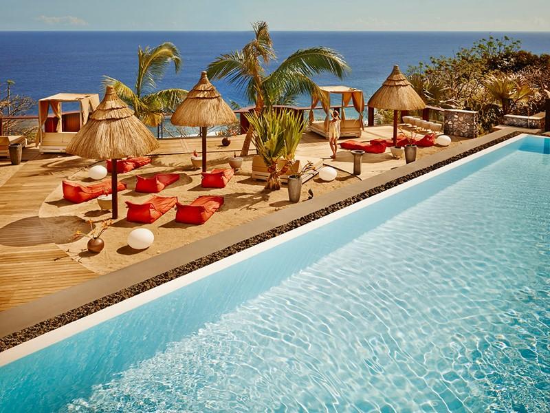Espace de détente Kah Beach du Palm Hôtel & Spa à la Réunion
