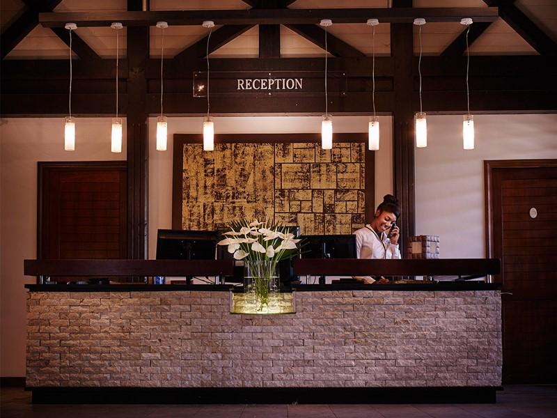 La reception du Palm Hôtel & Spa à la Réunion