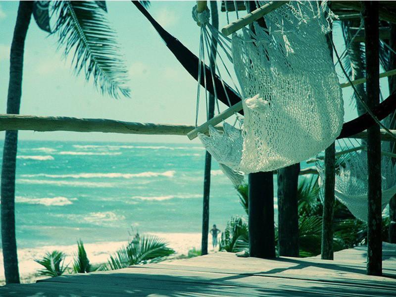 Hamac en bord de plage