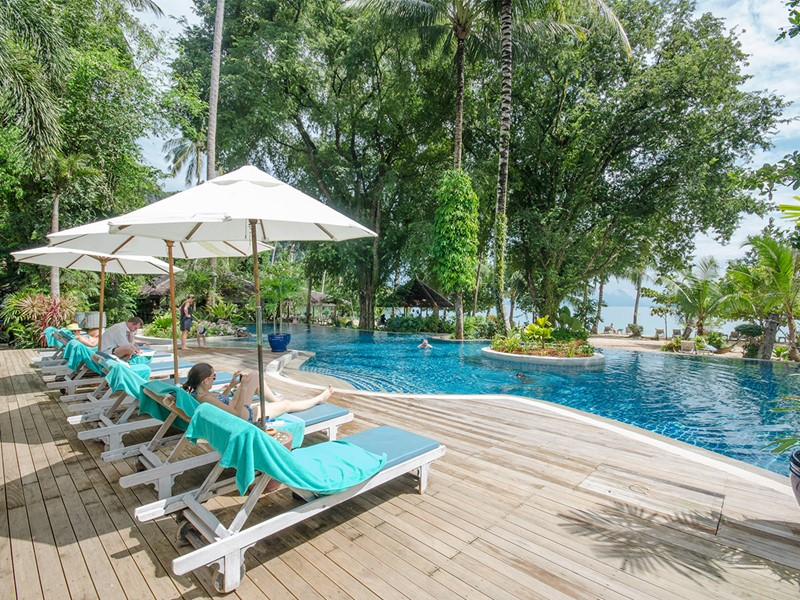 La piscine du Paradise Koh Yao Boutique Beach Resort en Thaïlande