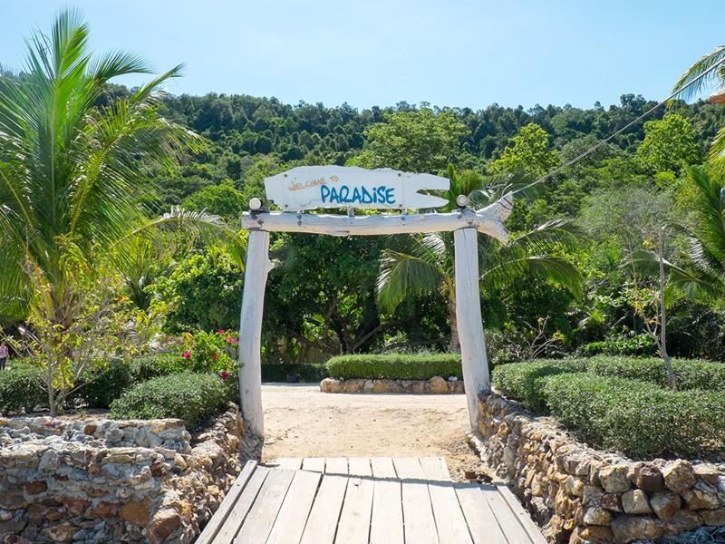L'entrée du Paradise Koh Yao Boutique Beach Resort