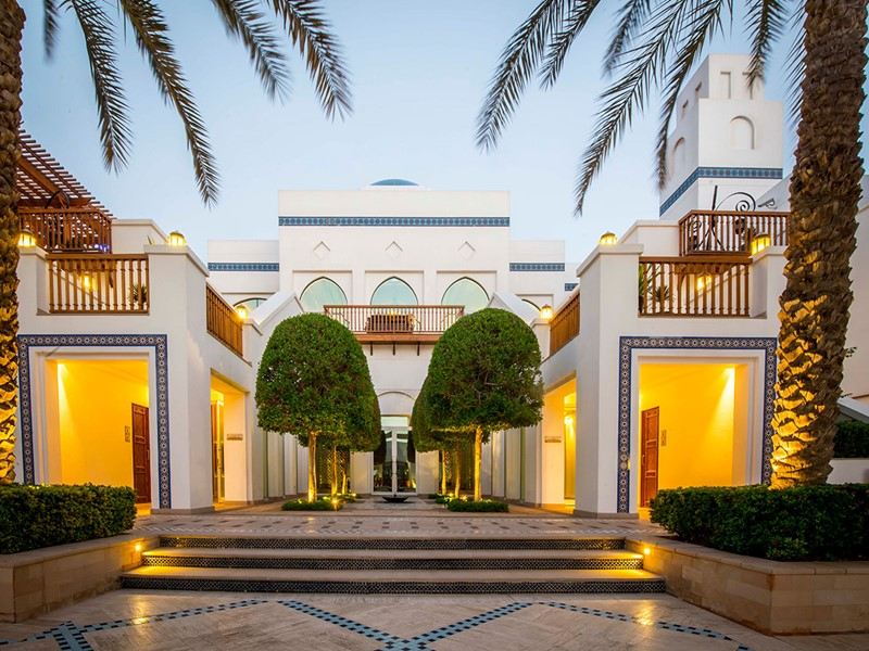 L'entrée de l'hôtel Park Hyatt à Dubaï