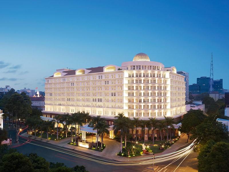 Vue du Park Hyatt Saigon, l'hôtel mythique de Hô-Chi-Minh-Ville