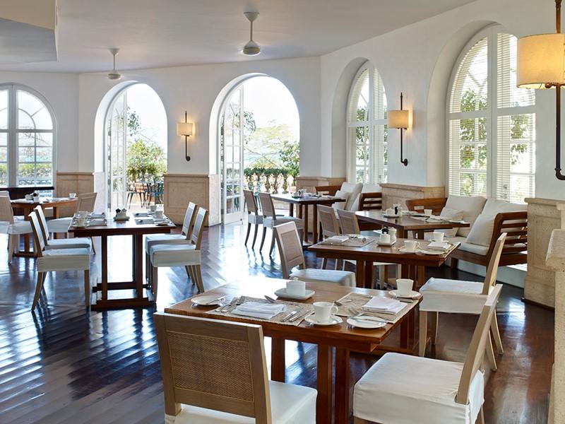 Terrace Restaurant de l'hôtel Parrot Cay & Como Shambala