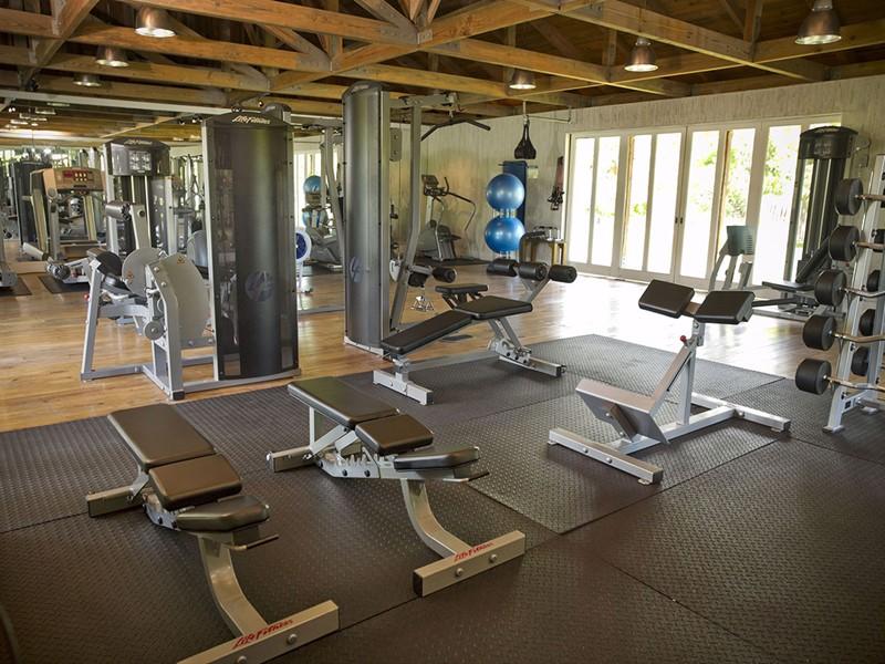 Gym de l'hôtel 5 étoiles Parrot Cay & Como Shambala