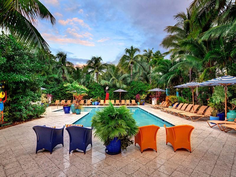 La splendide piscine du Parrot Key, aux Etats Unis