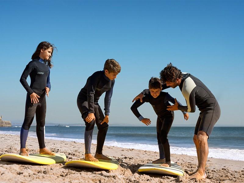 Cours de surf au beach club du Penha Longa