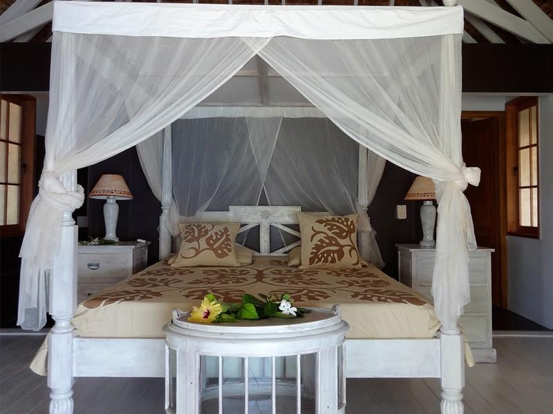 Chambre de la pension, située en Polynésie