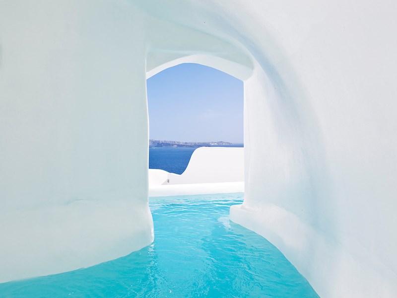 La piscine du Canaves Oia