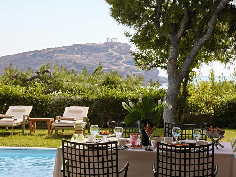 Déjeuner dans votre jardin privé