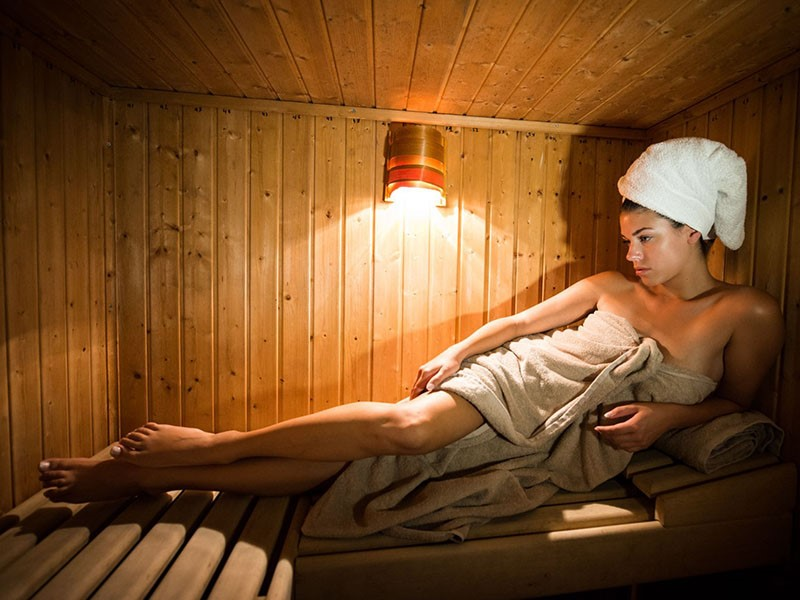Le sauna du Porto Naxos Hotel