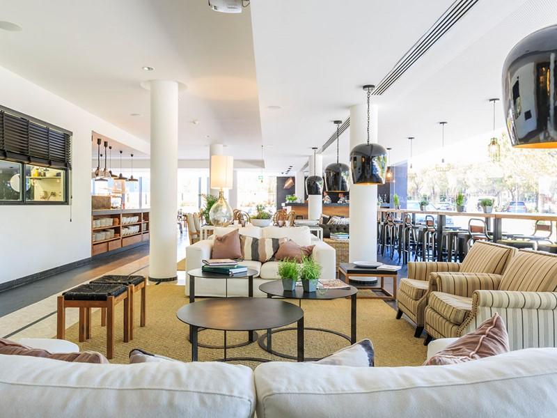 Le lobby du Praia Verde Boutique Hotel au Portugal