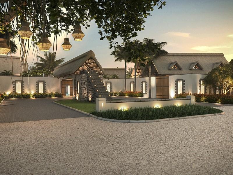 L'entrée du Preskil Island Resort situé à l'île Maurice