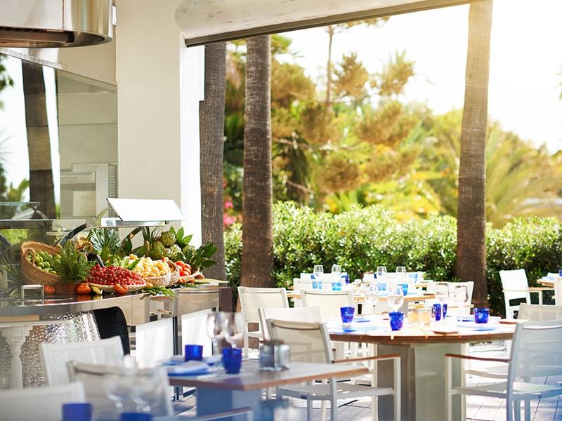 Le restaurant Sea Grill du Puente Romano à Marbella
