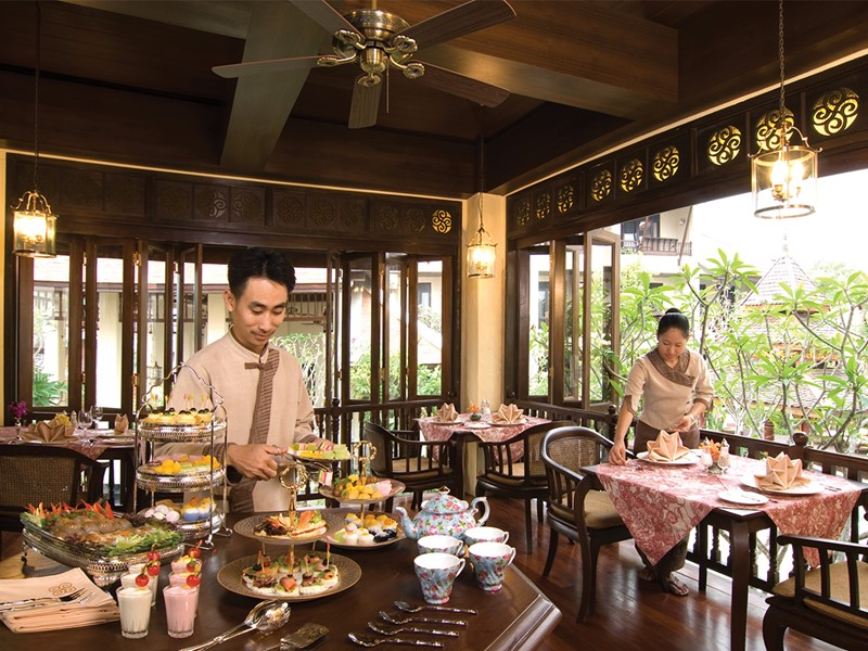 Le restaurant Hightea de l'hôtel Puripunn en Thailande