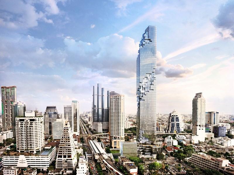 La Maha Nakhon Tower, un impressionnant gratte-ciel à l'architecture déstructurée