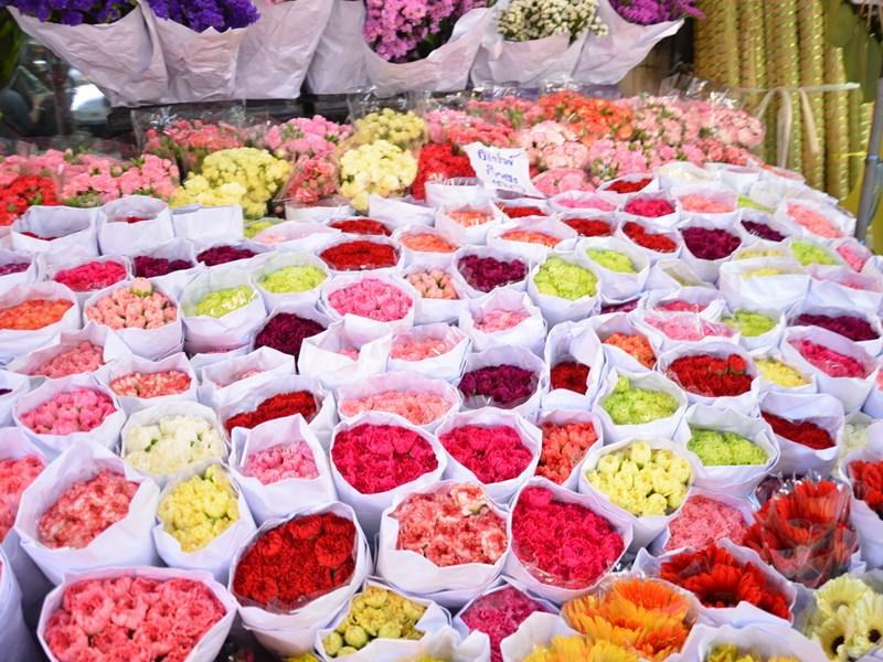 Pak Klong Talat, le marché aux fleurs