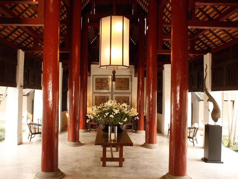 Lobby du Rachamankha situé au coeur de la vieille ville de Chiang Mai
