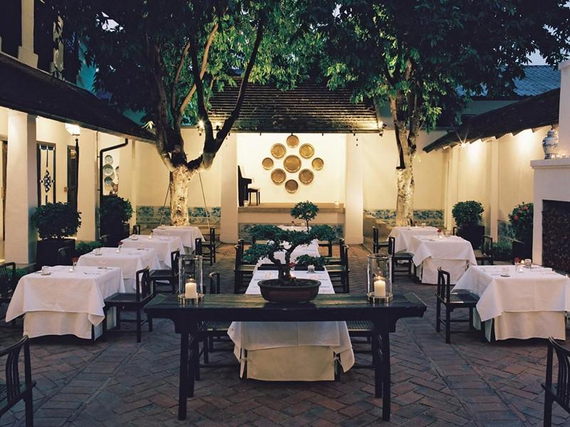 Restaurant de l'hôtel Rachamankha situé en Thailande