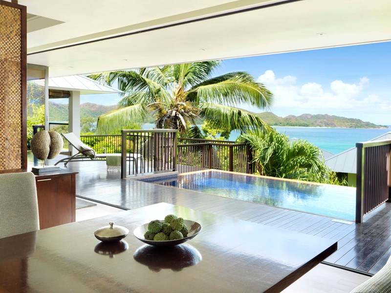 One Bedroom Oceanview Pool Villa du Raffles Praslin