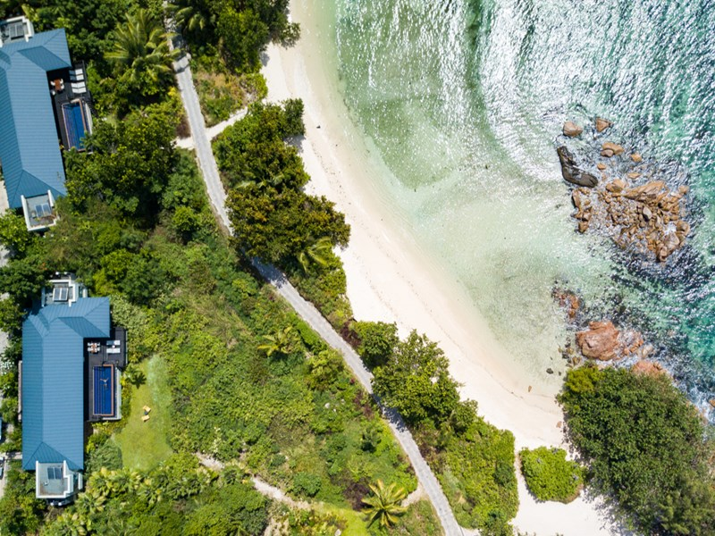 Two Bedroom Beachfront Pool Villa du Raffles Praslin
