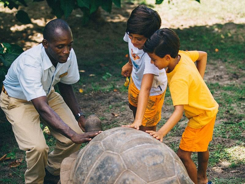 Le coin enfants du Raffles Praslin aux Seychelles