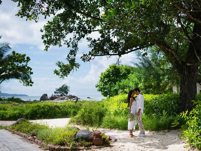 Mariage à l'hôtel Raffles Praslin situé aux Seychelles