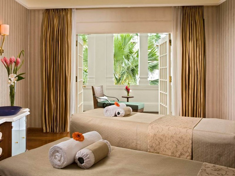 Le spa de l'hôtel Raffles Singapore