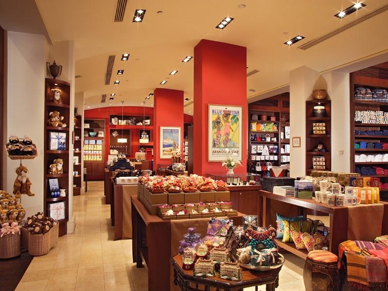 La boutique de l'hôtel 5 étoiles Raffles Singapore