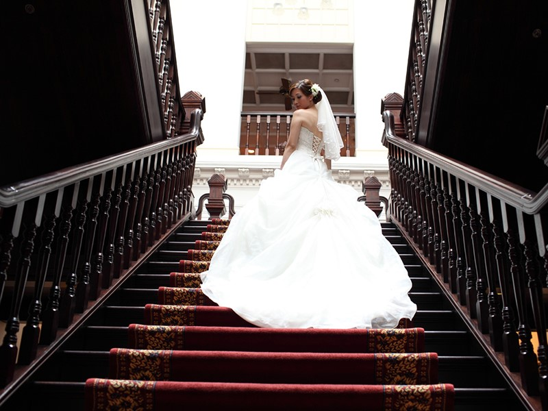 Mariage au Raffles Hotel de Singapour