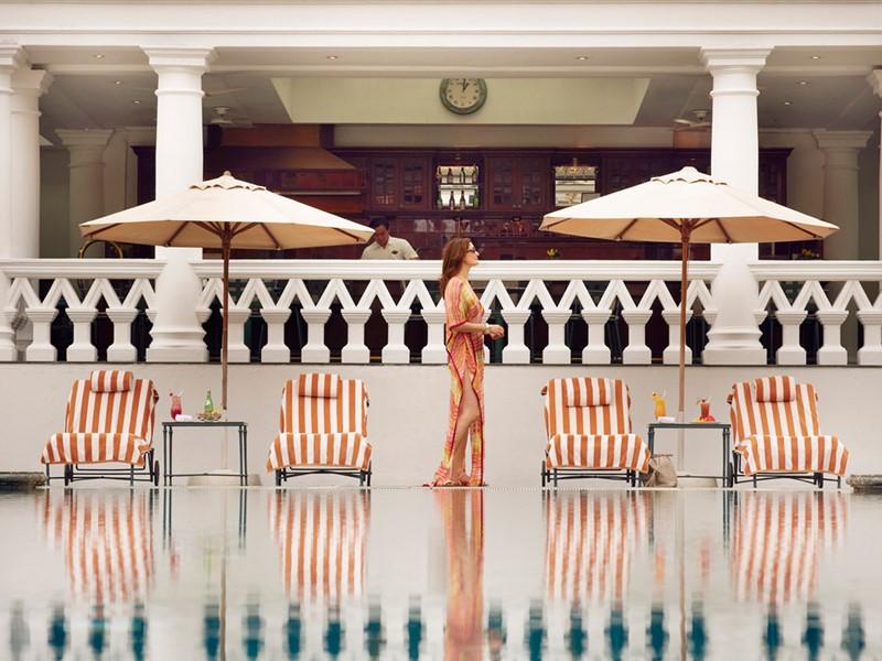 Autre vue de la piscine du Raffles Singapore