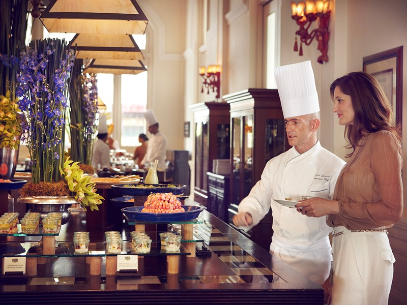 Champagne Brunch au Raffles Hotel à Singapour
