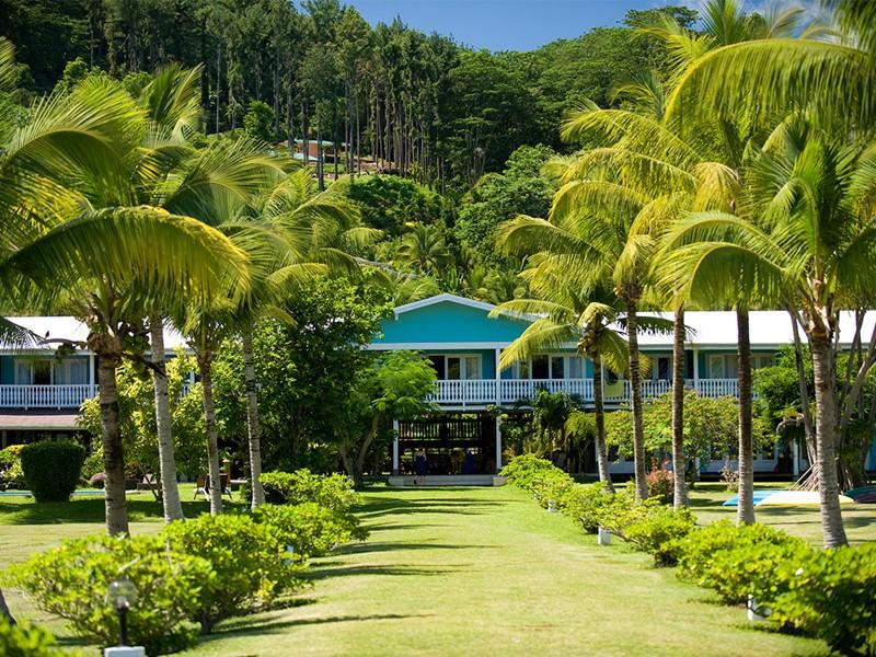 Vue du Raiatea Lodge Hotel situé en Polynésie