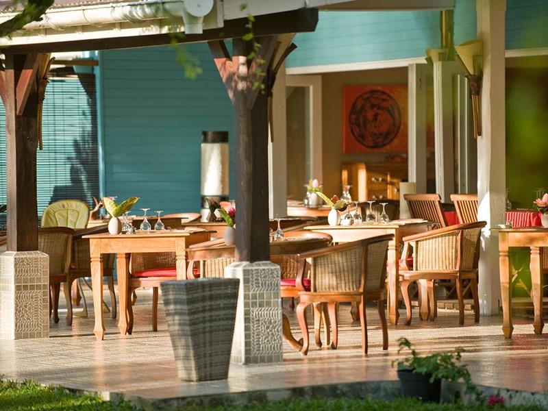 Le restaurant du Raiatea Lodge Hotel en Polynésie