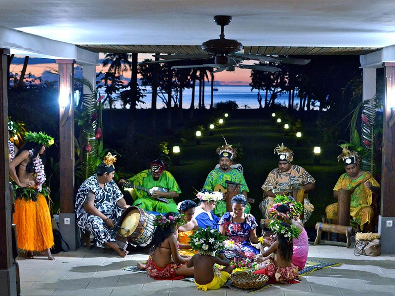 Ambiance typiquement polynésienne au Raiatea Lodge