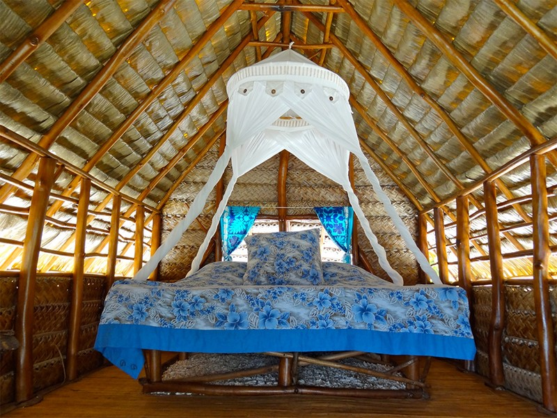 Le Fare Robinson de l'hôtel Raimiti en Polynésie