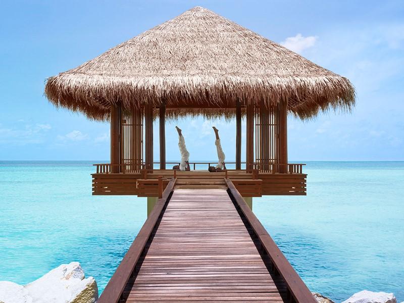 Yoga à l'hôtel Reethi Rah One & Only aux Maldives