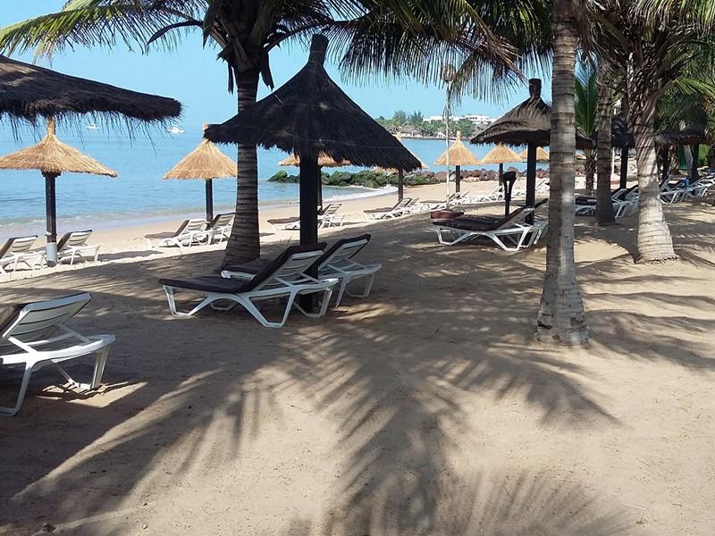 La plage de l'hôtel Royam situé au Sénégal