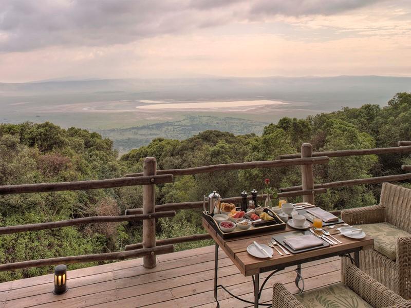 Vue sur le célèbre cratère du Ngorongoro