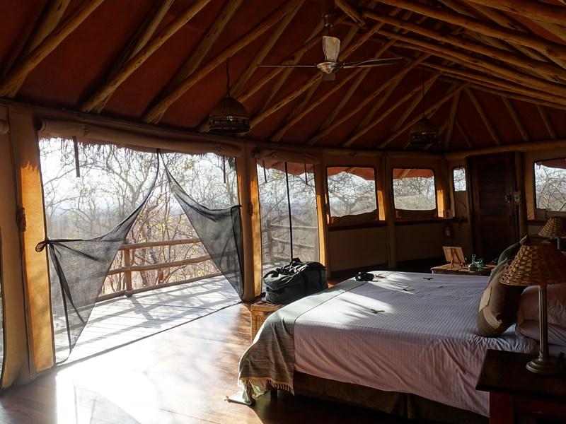 La chambre au Tarangire Treetop