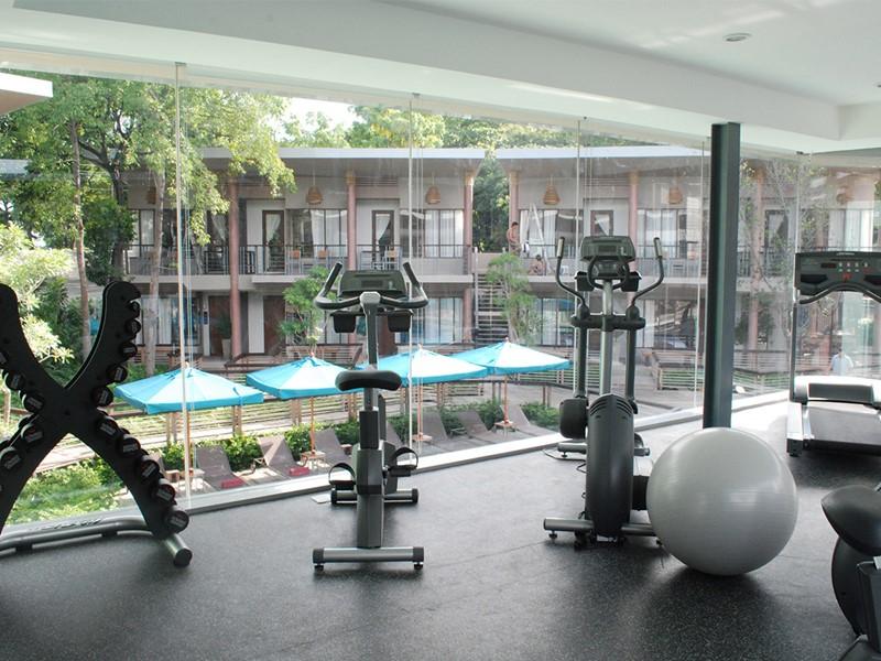 La gym de l'hôtel 4 étoiles Sai Kaew Beach Resort