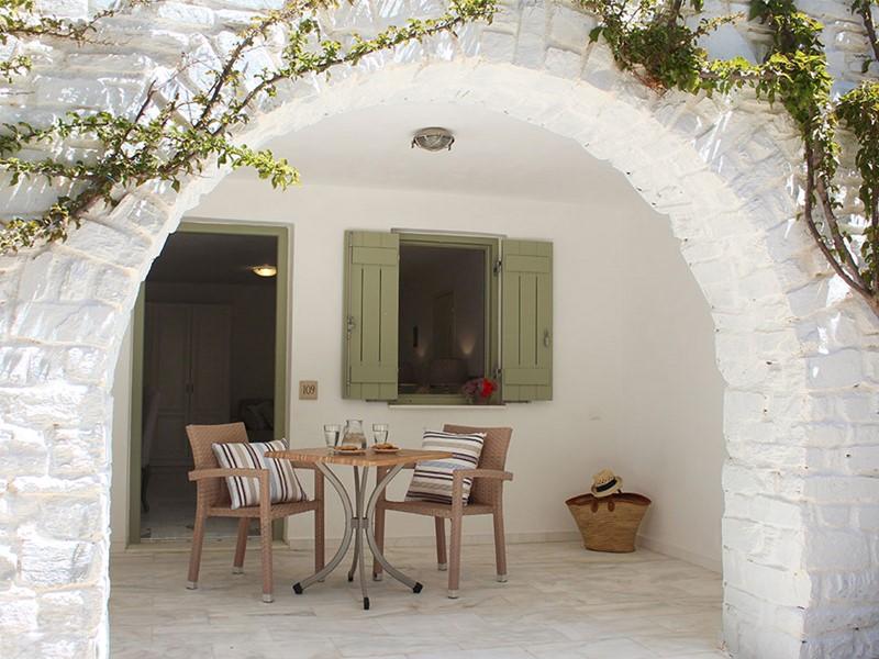 La terrasse d'une chambre