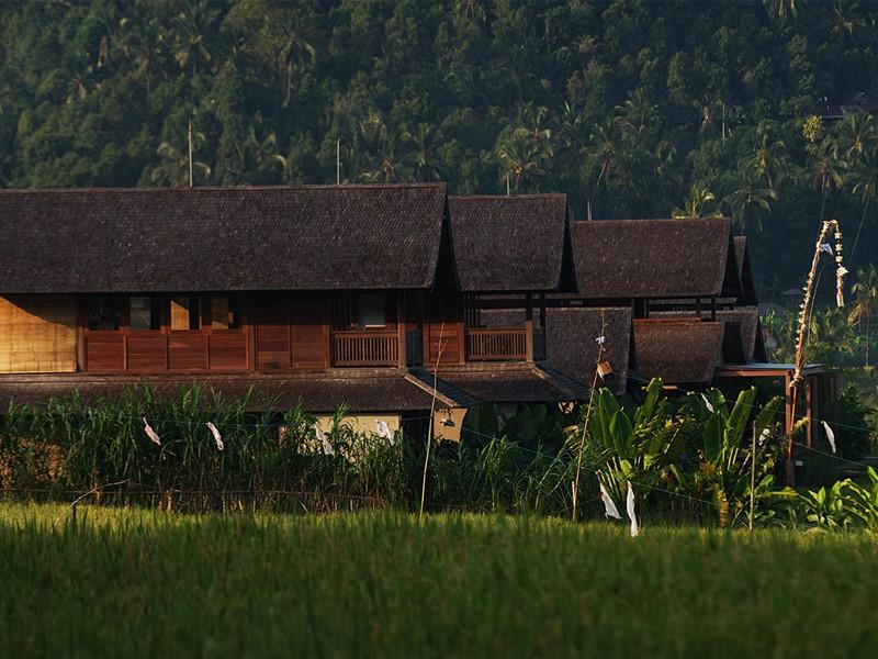 Les bâtiments à l'architecture traditionnelle