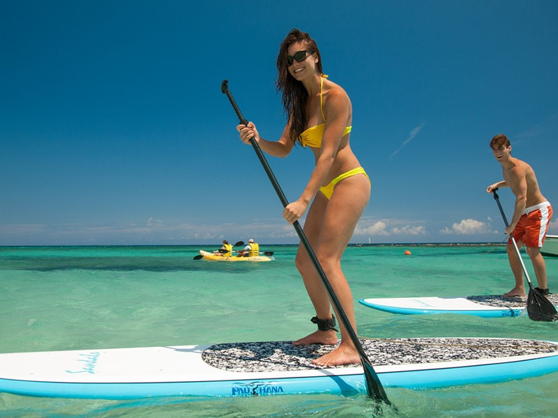 Paddle au Sandals Grande Antigua Resort aux Antilles