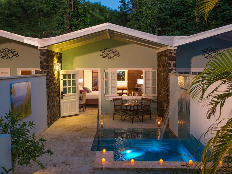 Honeymoon Butler Room du Sandals Halcyon Beach St Lucia