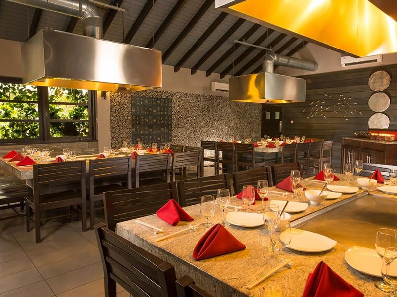 Le restaurant Kimonos du Sandals Halcyon Beach à Sainte-Lucie