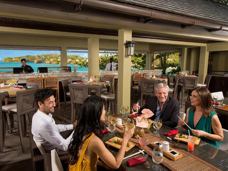 Soy Sushi Bar du Sandals Regency La Toc à Sainte Lucie