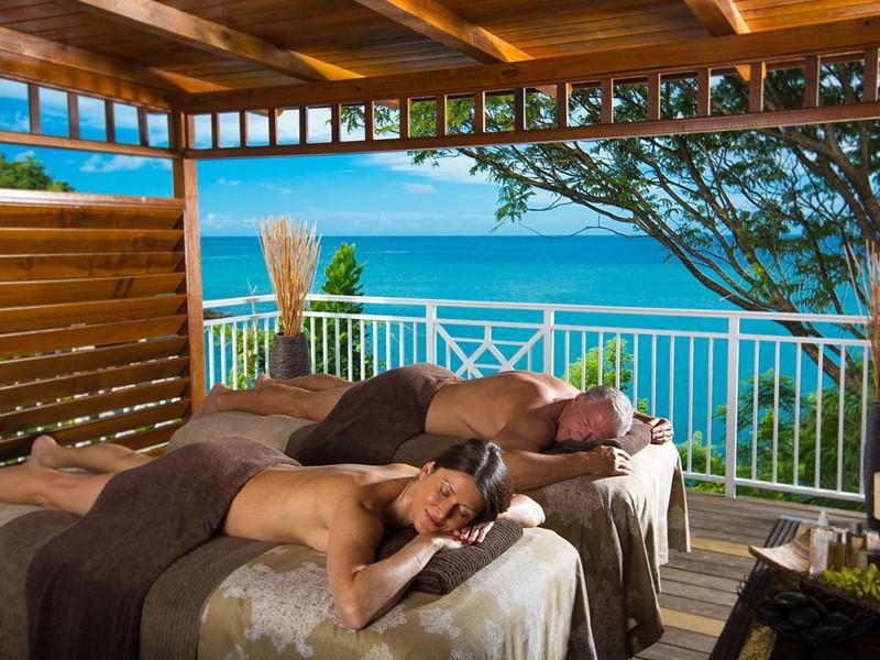 Le spa de l'hôtel 5 étoiles Sandals Regency La Toc