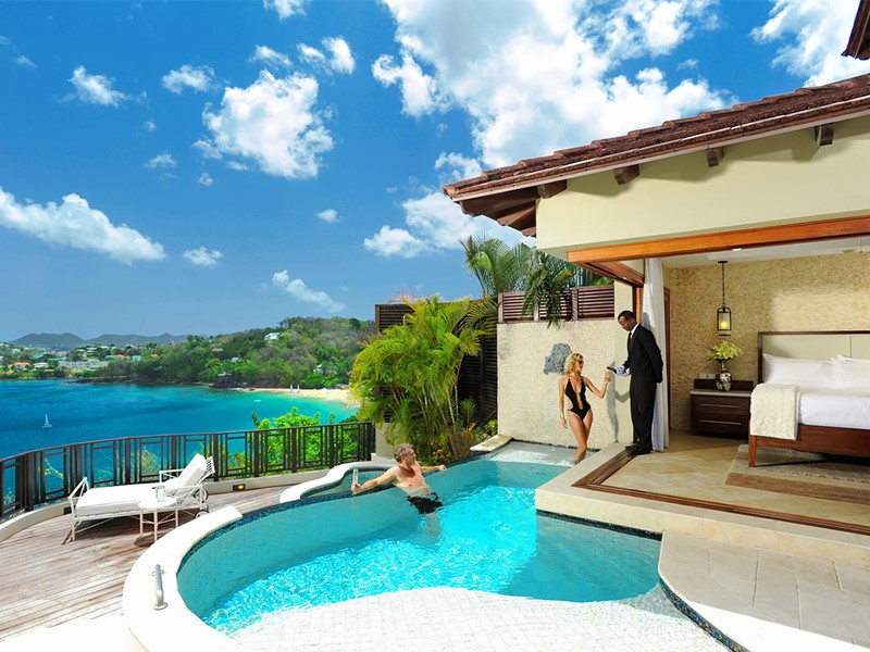 Sunset Bluff Millionaire Butler Villa Suite with Private Pool du Sandals