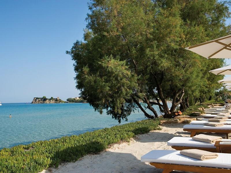 La plage de l'hôtel Sani Club situé à Halkidiki